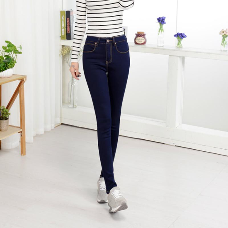 [해외]2018 년 봄, 가을 하이 웨스트 스트레치 코튼 플러스 사이즈 브랜드 여성 여성용 여성 청색 연필 바지 청바지 의류/2018 spring and autumn high waist  stretch cotton plus size brand female women g