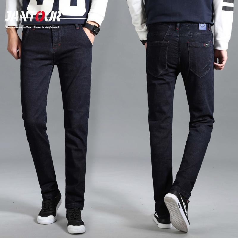 [해외]2018 새로운 고품질 패션 남자 스키니 청바지 스트레치 패션 클래식 블랙 슬림 브랜드 청바지 남성 바지 바지 플러스 사이즈 40 42/2018New high quality fashion Men Skinny Jeans Stretch Fashion Classic
