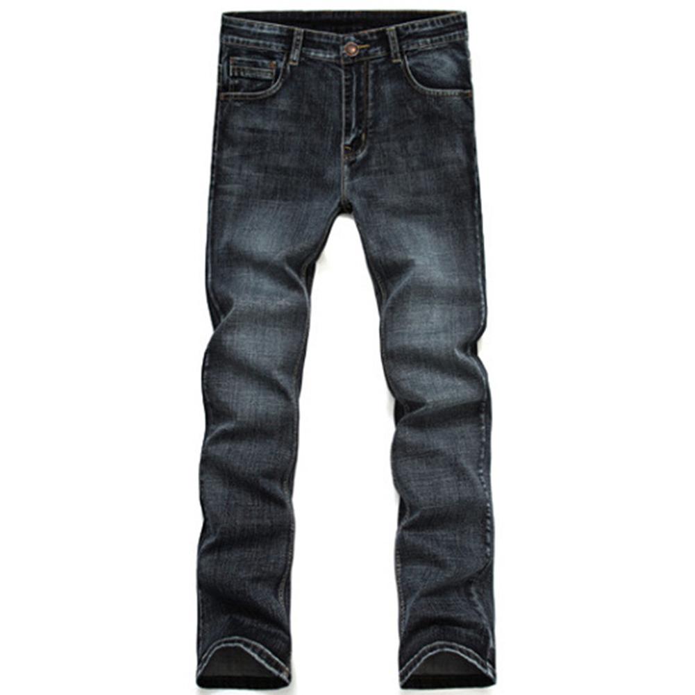 [해외]새로운 브랜드 남성 디자이너 스트레치 캐주얼 스트레이트 레그 데님 청바지 남성 레귤러 피트 면화 비즈니스 바지 바지 Vaqueros Hombre/New Brand Men Designer Stretch Casual Straight Leg Denim Jeans Ma