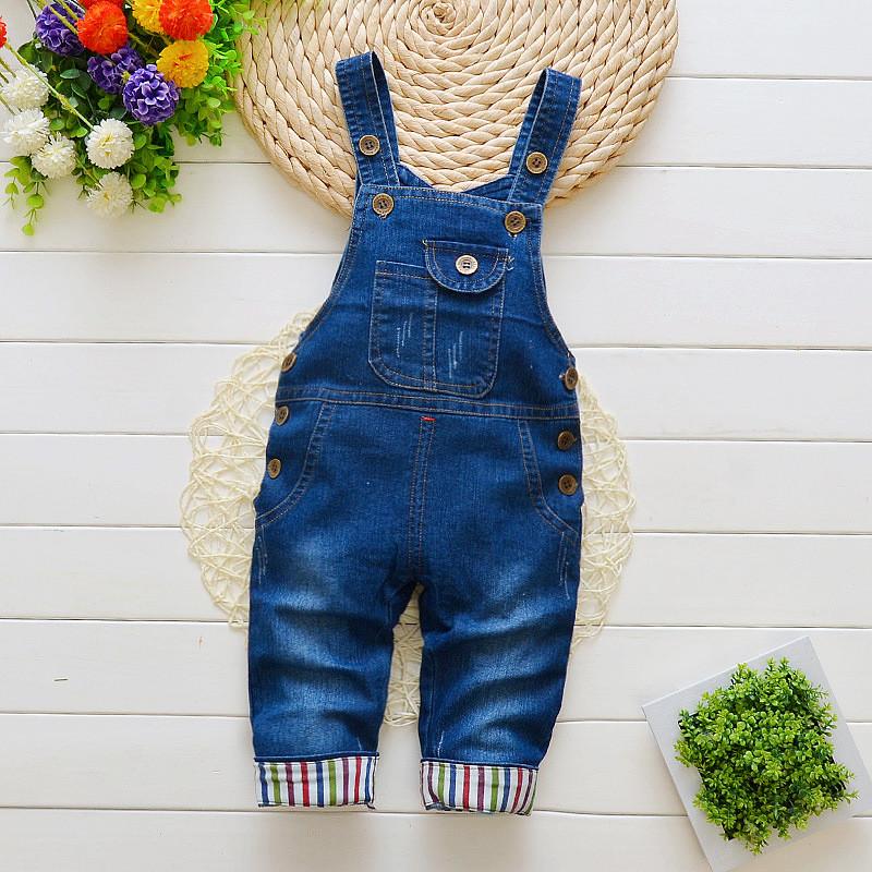 [해외]?BibiCola 2018 베이비 바지 유아 레저 스타일 소년 턱받이 바지 어린이 데님 전체 바지 아이를청바지/ BibiCola 2018 Baby Pants Toddler leisure  styls Boys bib pants children Denim Overa