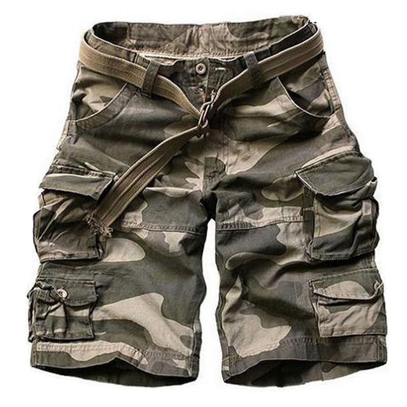 [해외]새로운 2016 여름 스타일 망 캐주얼 군대 카모화물 반바지 면화 짧은 바지 밀리터리 위장 패션 반바지 남자 비치 반바지/New 2016 Summer Style mens casual army camo cargo shorts cotton Short pants mi