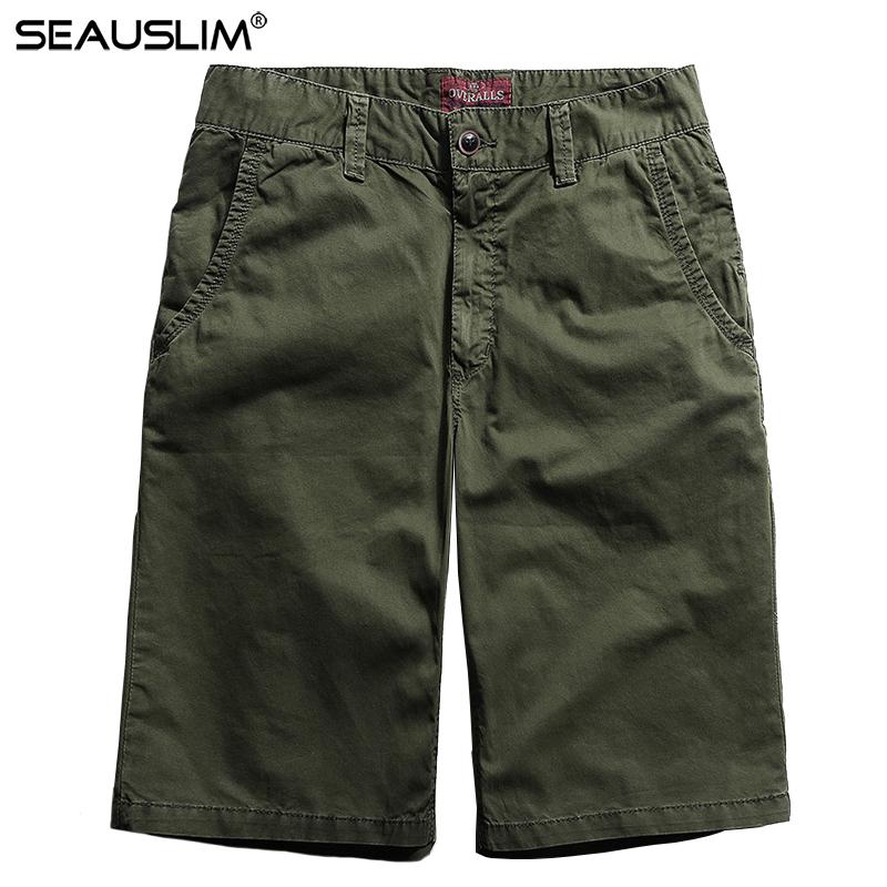 [해외]SEAUSLIM 2018 캐주얼 반바지 남성 짧은 캐주얼 반바지 비치 100 % 코튼 남성 및 전술 밀리터리 바지 남성 LQ-FH-03/SEAUSLIM 2018 Casual Shorts Men Summer Short Cargo Shorts Beach 100% C