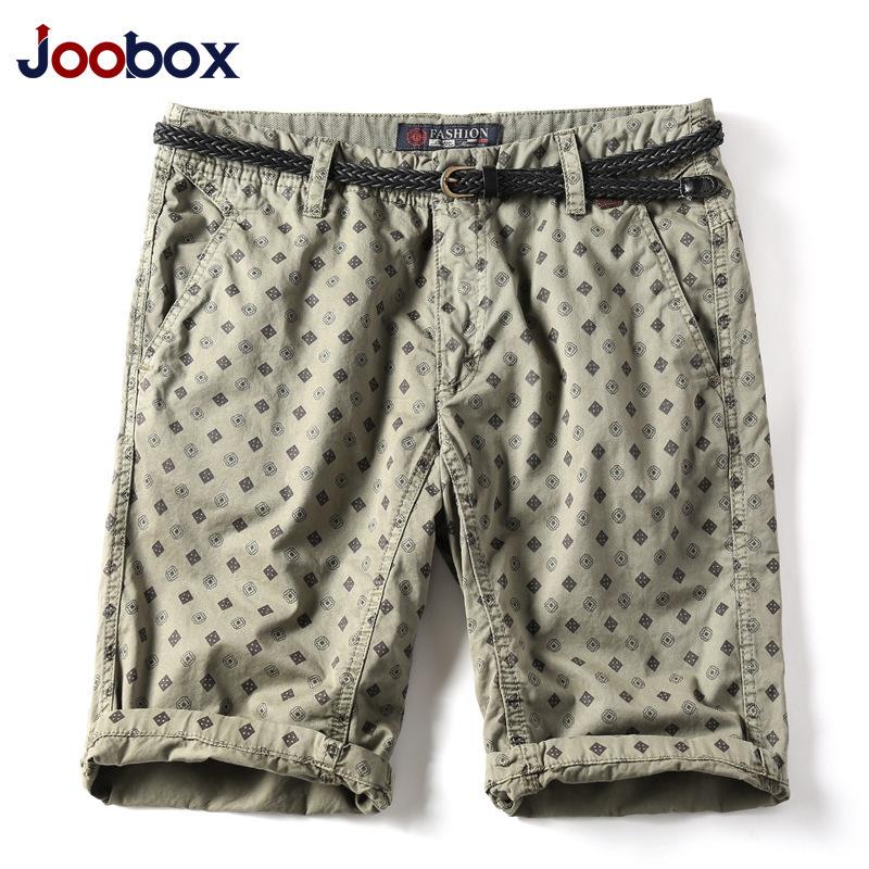 [해외]Joobox 브랜드 남성용 반바지면 자카드 남성 여름 캐주얼 반바지 스트레이트 무릎 길이 느슨한 패션 비치 레저 짧은 남자/Joobox Brand Mens Shorts Cotton Jacquard Men Summer Casual Shorts Straight Kn