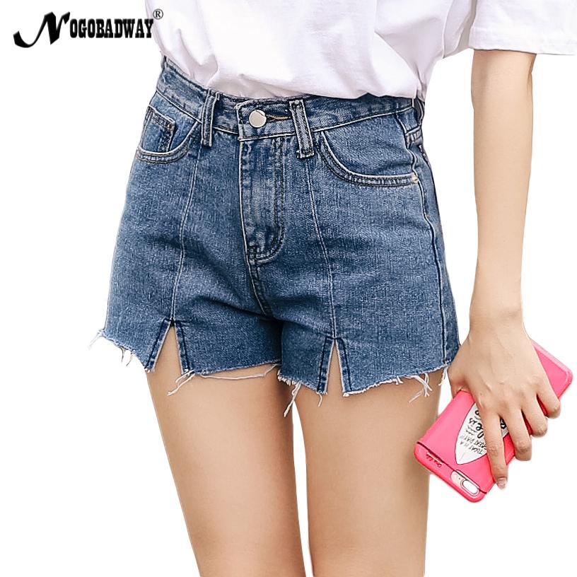 [해외]여성 스커트 데님 반바지 여성 캐주얼 패션 하이 탑 허리 청바지 반바지 빈티지 2020 여성용 블루 신품 플러스 사이즈 슬림/Split denim shorts women high waist jeans shorts summer casual fashion vinta