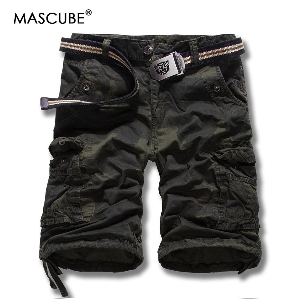[해외]MASCUBE 2018 New Cargo Shorts Men 여름 탑 디자인 위장 밀리터리 캐주얼 반바지 Homme Cotton Fashion Brand Clothing/MASCUBE 2018 New Cargo Shorts Men Summer Top Design