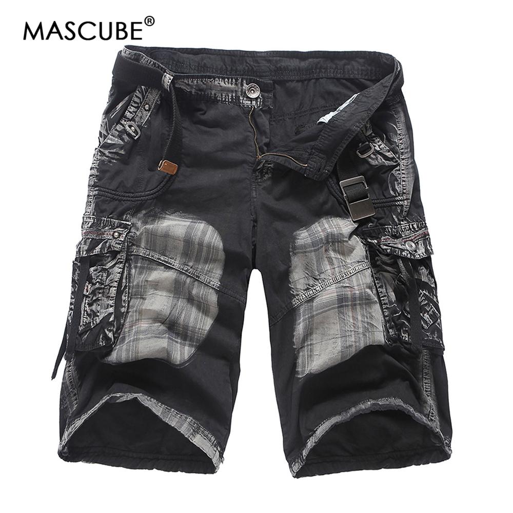[해외]MASCUBE Mens Military Cargo Shorts 2018 브랜드 새 전술 반바지 남성 100 % Cotton Loose Work 캐주얼 짧은 바지 플러스 사이즈/MASCUBE Mens Military Cargo Shorts 2018 Brand Ne