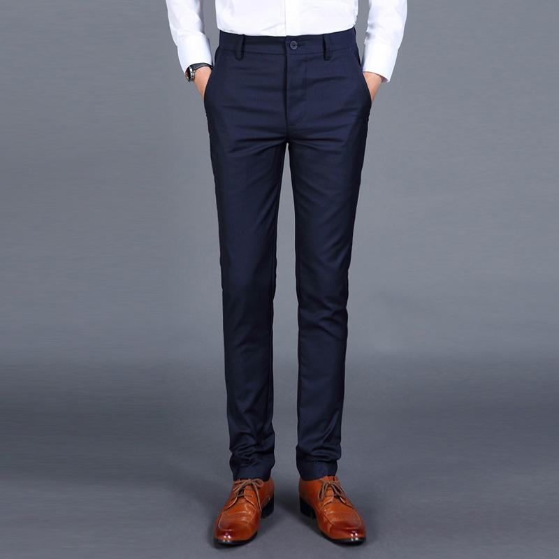 [해외]2018 신사복 패션 부티크 솔리드 컬러 캐주얼 비즈니스 정장 바지 한국식 남성용 겨울철 여름용 바지 남성용 바지/2018 New Men&s Fashion Boutique Solid Color Casual Business Suit Pants Korean-styl