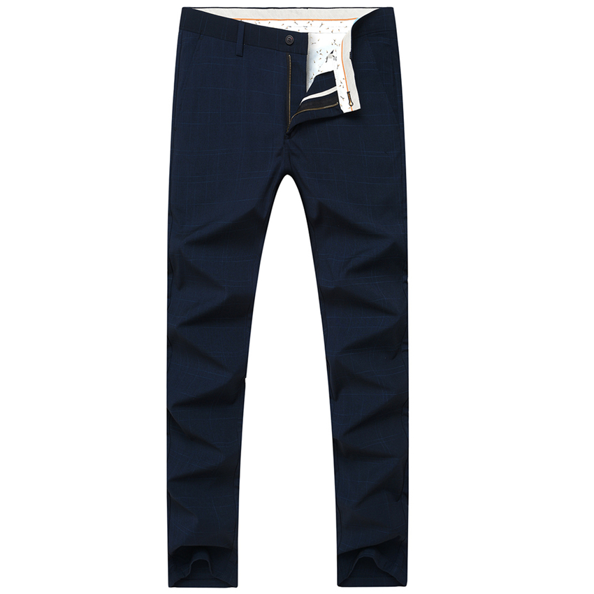 [해외]새로운 패션 비즈니스 남성 정장 바지 최대 크기 36 38 40 블루 블랙 그레이 남성 & 격자 무늬 바지 슬림 우아한 신사의 선택/New Fashion Business Mens Suit Pants Max Size 36 38 40 Blue Black Gr