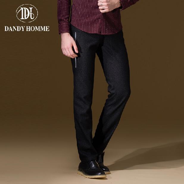 [해외]댄디 옴므 2015 남성 레저 가을 겨울 블랙 슈퍼 슬림 패션 맨 포켓 롱 바지 비즈니스 캐주얼 바지/Dandy Homme  2015 Men Leisure Autumn Winter Black Super Slim Fashion Man Pocket Long Pant