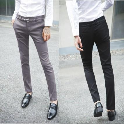 [해외]여름 남성 서양식 바지 슬림 얇은 비즈니스 캐주얼 정장 바지 쉬운 정장 바지 정장/Summer male western-style trousers slim thin business casual suit pants easy care suit pants formal