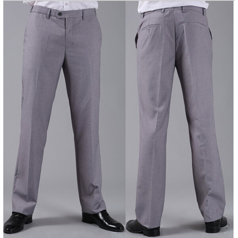 [해외]새로운 남성 정장 바지 패션 비즈니스 정장 댄스 파티 캐주얼 드레스 바지 봄 가을 겨울 Custume 개인 라이트 그레이 만든/New Men Suits Pants Fashion Business Formal Prom Casual Dress Pants Spring