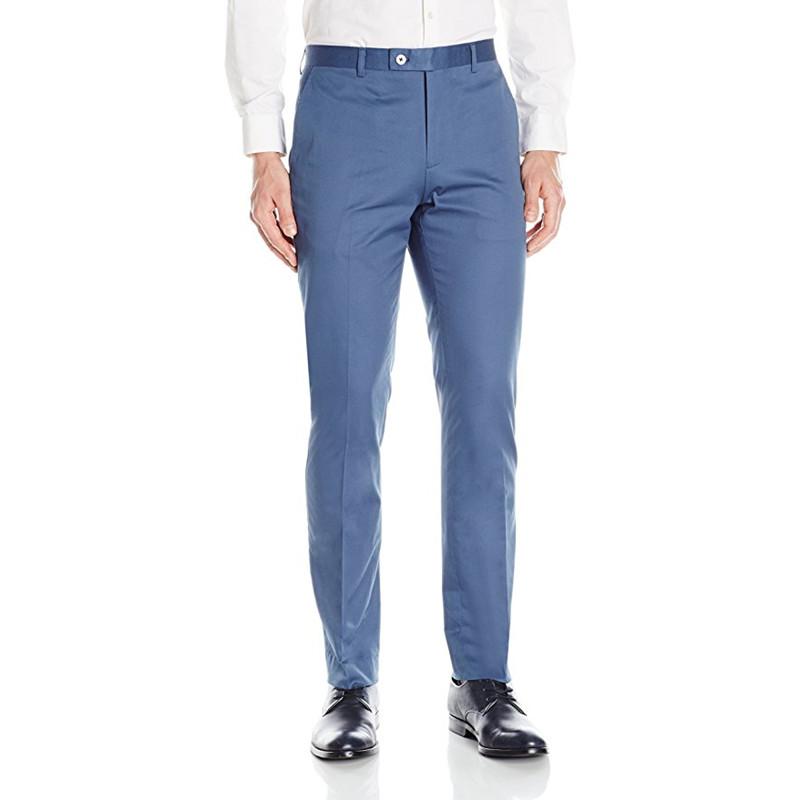 [해외]사용자 정의 남성 정장 바지 블레이저 드레스 회색 남성 & 플랫 전면 슬림 피트 면화 헴 정장 분리 바지 정장 바지/Custom Made Men Suit Pants Blazer Dress Gray Men&s Flat Front Slim Fit Cotton