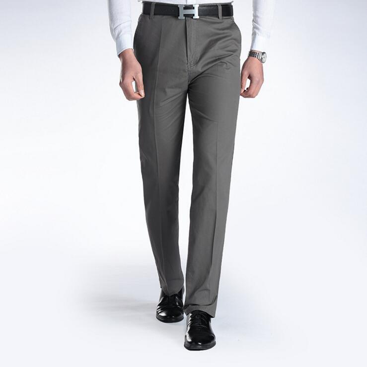 [해외]새로운 남성 & 정장 바지 여름 얇은 남자 면화 비즈니스 캐주얼 바지 남성용 바지 바지 스트레이트 바지/new men&s suit pants Summer thin man cotton business casual pants straight trousers