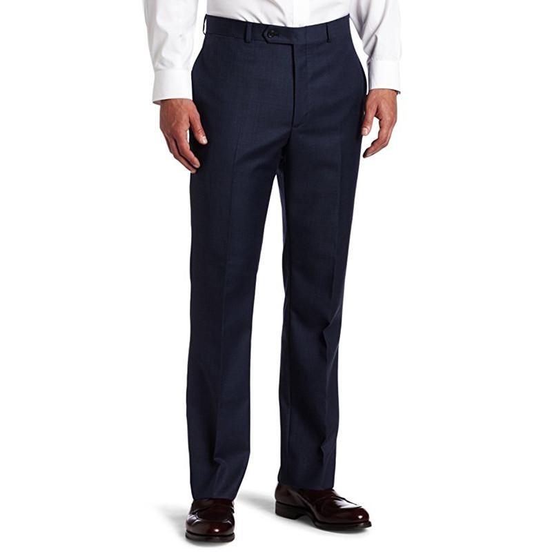 [해외]사용자 정의 만든 새로운 검은 공식적인 웨딩 정장 바지 망 플랫 전면 트림 맞는 바지 남성 정장 바지 G683/Custom Made New Black Formal Wedding Suit Pants Mens Flat-Front Trim-Fit Pant Trouse