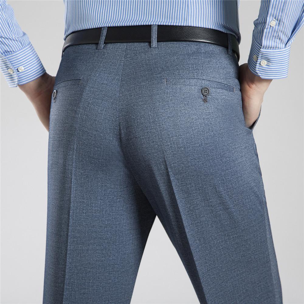 [해외]?뮤 원 양 남성 의류 2018 새로운 여름 캐주얼 면화 바지 빅 사이즈 망 정장 바지 스트레이트 긴 작업 바지 42 44/ Mu Yuan Yang Men&s Clothing 2018 New Summer Casual Cotton Trousers Big Size