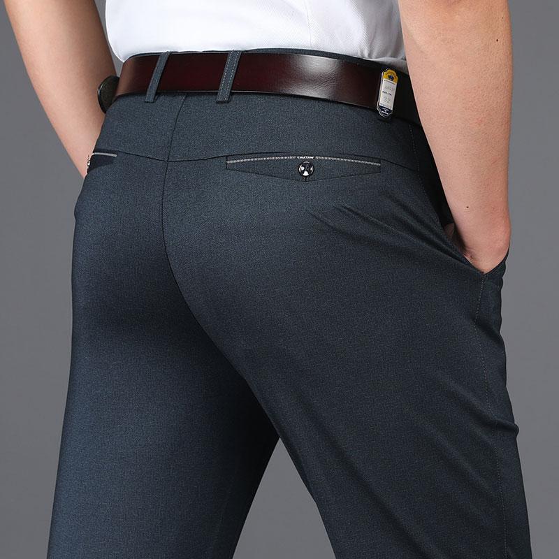 [해외]?여름 남성 복장 바지 비즈니스 작업 바지 스트레이트 캐주얼 바지 남성 & 정장 바지 남성 코튼 Pantalon Hombre/ Summer Men Dress Pants Business Work Pants Straight Casual Trousers Men