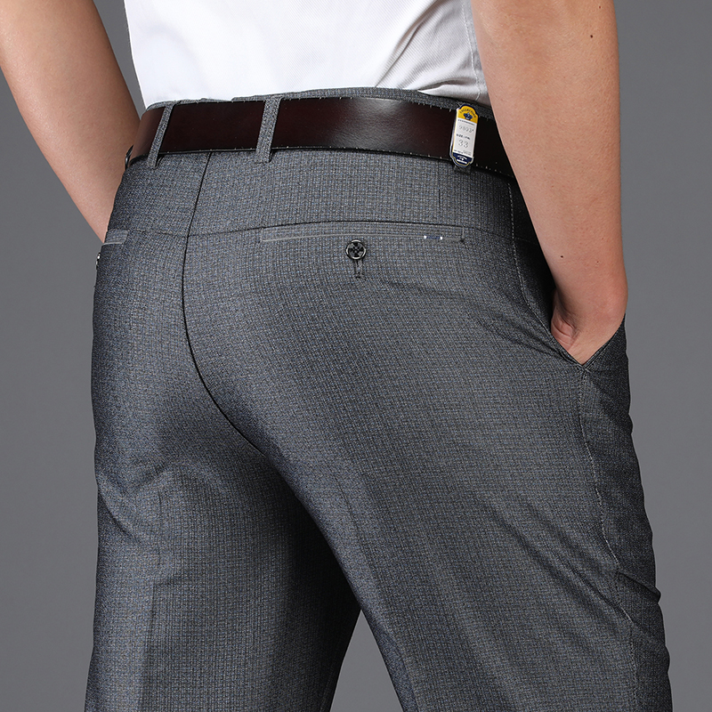 [해외]남자 드레스 바지 2018 여름 공식 브랜드 의류 루스 양복 바지 남자 얇은 슬림 캐주얼 비즈니스 웨딩 바지/Men Dress Pants 2018 Summer Formal Brand Clothing Loose Suit Pants Men Thin Slim Casu