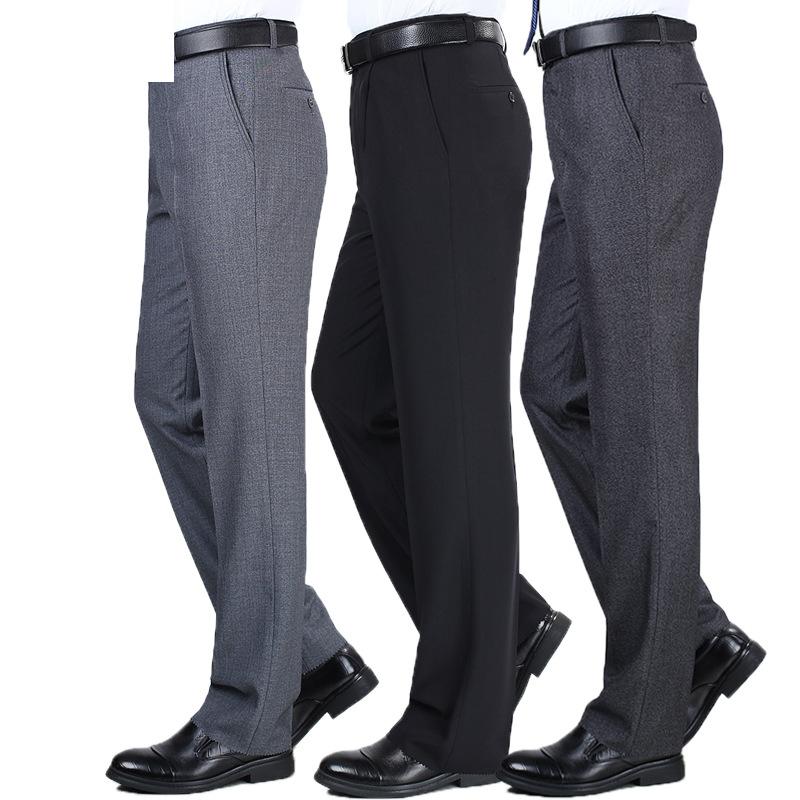 [해외]여름 남성 복장 바지 클래식 비즈니스 캐주얼 스트레이트 바지 패션 얇은 정장 바지 루스 맨 Pantalon Hombre/Summer Men Dress Pants Classic Business Casual Straight Trousers  Fashion thin