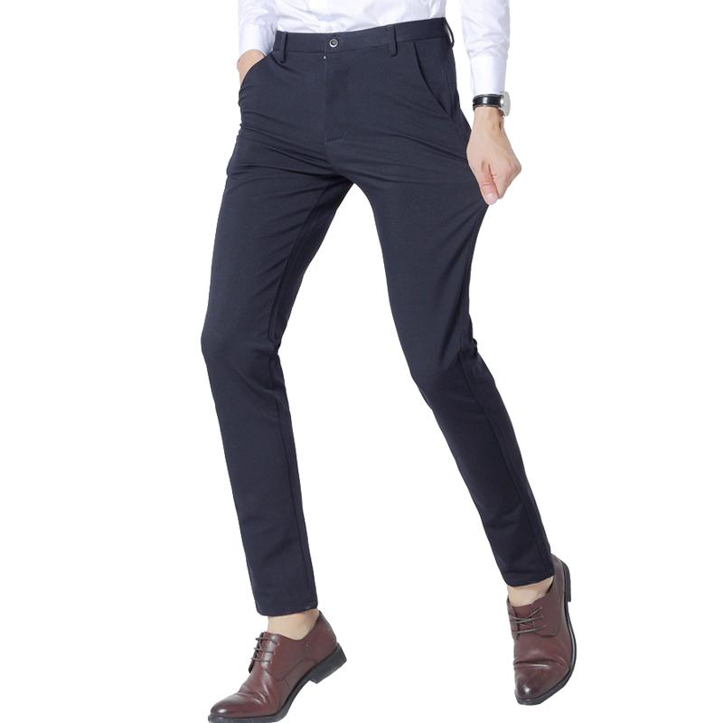 [해외]2018 새로운 패션 망 사업 정장 양복 바지 양면 탄력 슬림 맞는 품질 남성 레저 정장 바지 바지/2018 New Fashion Mens Business Formal Suit Pants Four-sided Elasticity Slim Fit Quality Ma