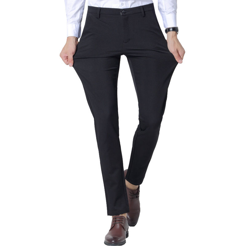 [해외]양면 탄력 슬림 피트 남성 & 정장 바지 남성 복장 바지 바지 스트레이트 비즈니스 남성 정장 바지/Four-sided Elasticity Slim Fit Men&s Suit Pants  Men Dress Pants Trousers Straight Busi