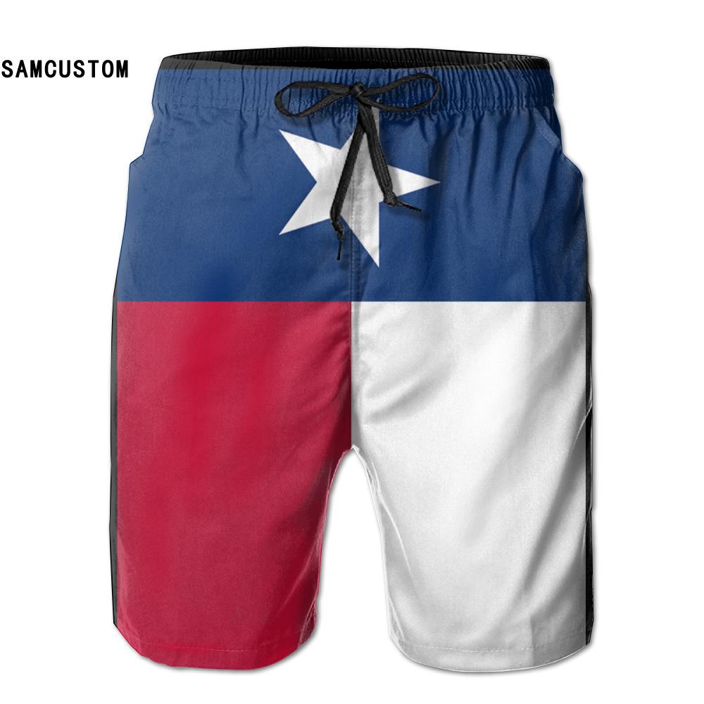 [해외]SAMCUSTOM mens 땀 흡수 빠른 건조 초경량 투웨이 텍사스 플래그 반바지 gmy 반바지 비치 반바지/SAMCUSTOM mens perspiration quick dry ultra-light breathable Texas Flag shorts gmy sh