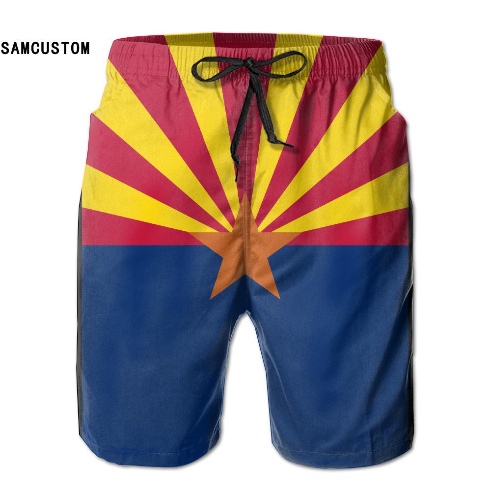[해외]SAMCUSTOM mens 땀 방지 초 건조 가볍고 통기성 아리조나 반바지의 국기 gmy 반바지 비치 반바지/SAMCUSTOM mens perspiration quick dry ultra-light breathable Flag of Arizona shorts g