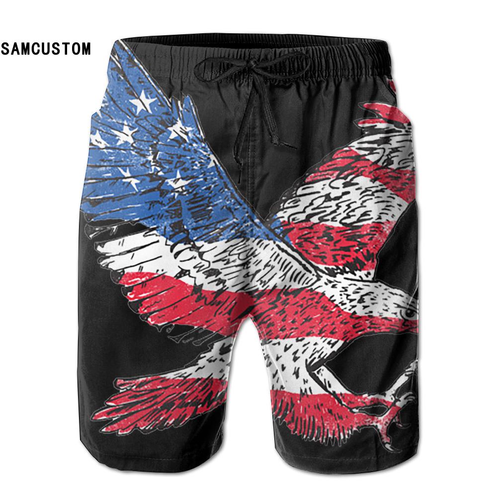 [해외]SAMCUSTOM mens 땀 흡수 속건 초소형 통기성 독수리 플래그 반바지 gmy 반바지 비치 반바지/SAMCUSTOM mens perspiration quick dry ultra-light breathable Eagle Flag shorts gmy short