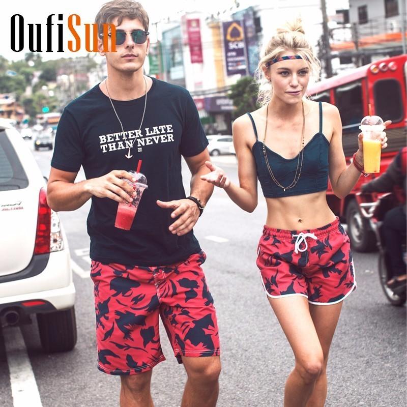 [해외]Oufisun 망 여름 패션 패턴 보드 반바지 남성 비치 수영복 짧은 남성 버뮤다 비치웨어 수영복 반바지 빠른 건조/Oufisun Mens Summer Fashion Pattern Board Shorts Men Beach Swimsuit Short Male Be