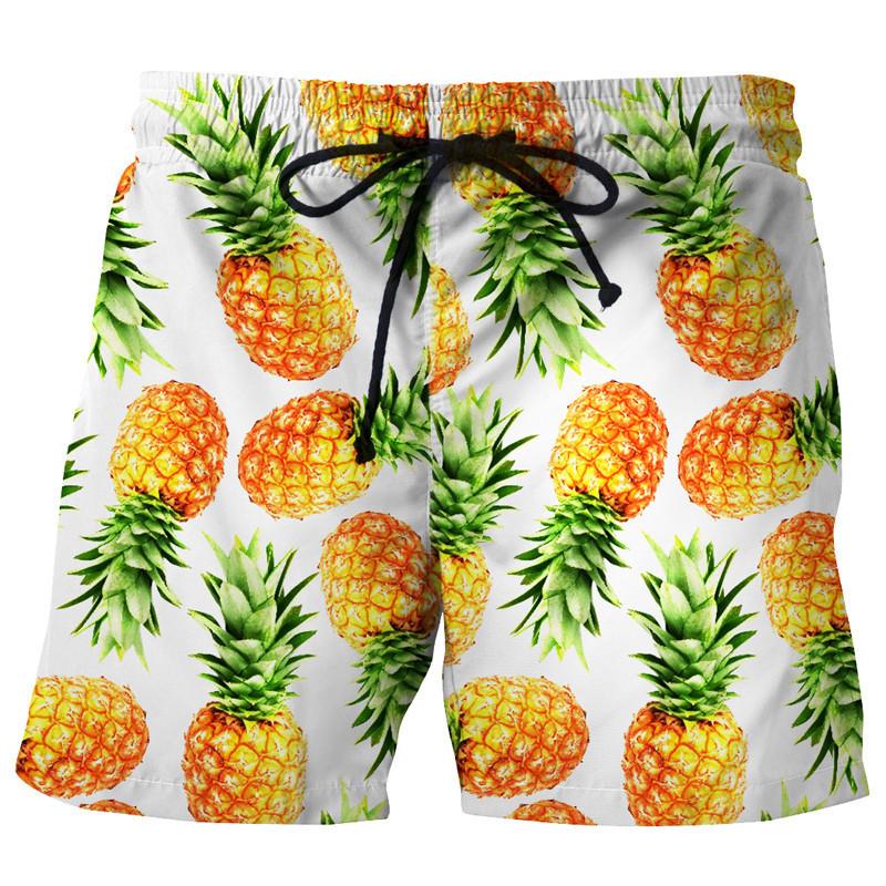 [해외]남자 & 캐주얼 비치 반바지 재밌는 파인애플 인쇄 Boardshorts 짧은 바지 사랑스러운 3d 남자 Beachwear EU 크기/New Arrival Men&s Casual Beach Shorts Funny Pineapple Print Boardsho