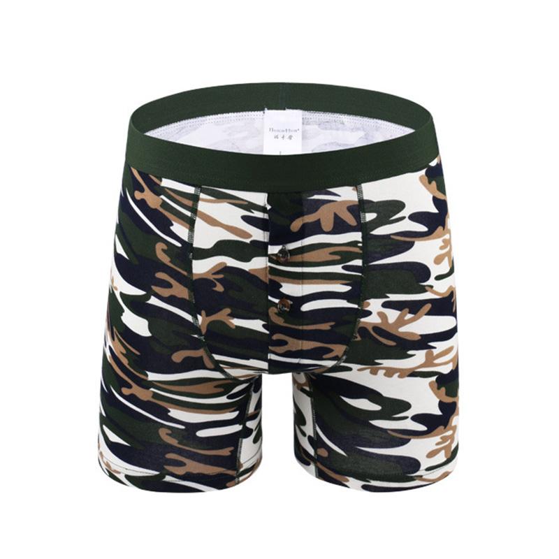 [해외]4XL 5XL 6XL 플러스 사이즈 남성 속옷 복서 오픈 파우치 롱 레그 남성용 속옷 위장 남성면 프린트 Cuecas De Marca/4XL 5XL 6XL Plus Size Men Underwear Boxers Open Pouch Long Leg Men&s Un