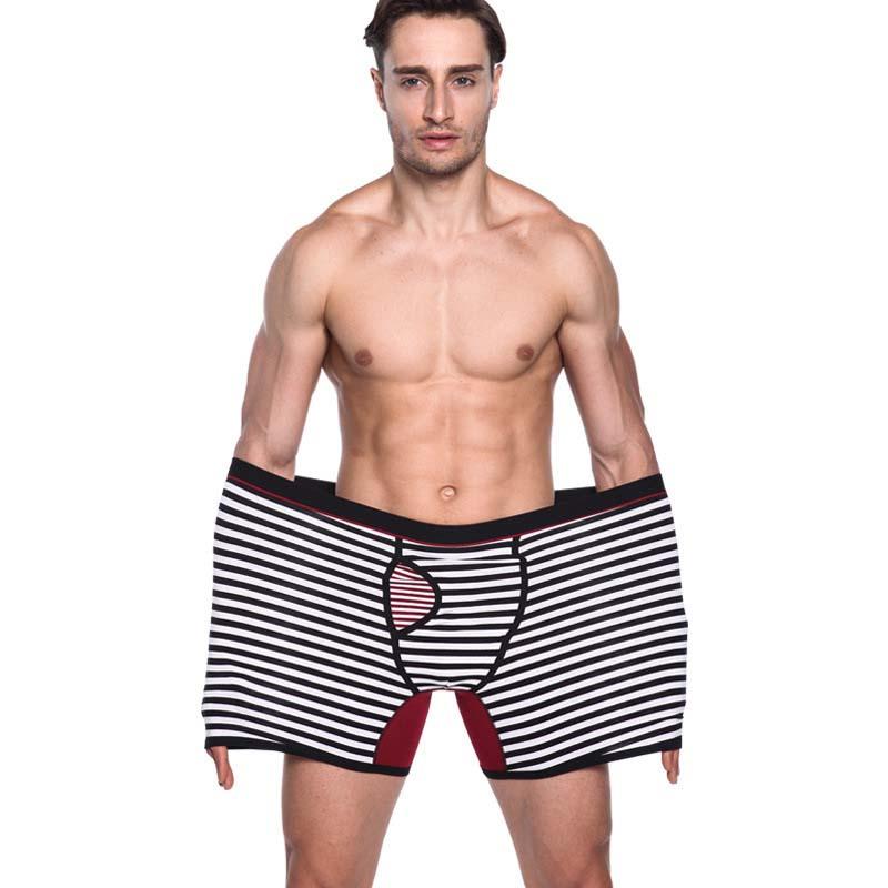 [해외]2017 새로운 패션 빅 사이즈 반바지 남성 코튼 언더웨어 통기성 중반 허리 남자 긴 사각 스 판 덱 스 긴 남성 코 튼 팬츠/2017 new Fashion big size Shorts Men Cotton Underwear Breathable Mid waist