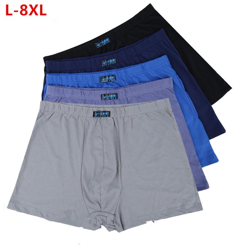 [해외]5pcs / set 대형 느슨한 8XL 남성 면화 Underwears 복서 높은 허리 통기성 지방 벨트 큰 야드 남자 & 속옷 플러스 크기/5pcs/set Large loose 8XL male cotton Underwears Boxers high wais