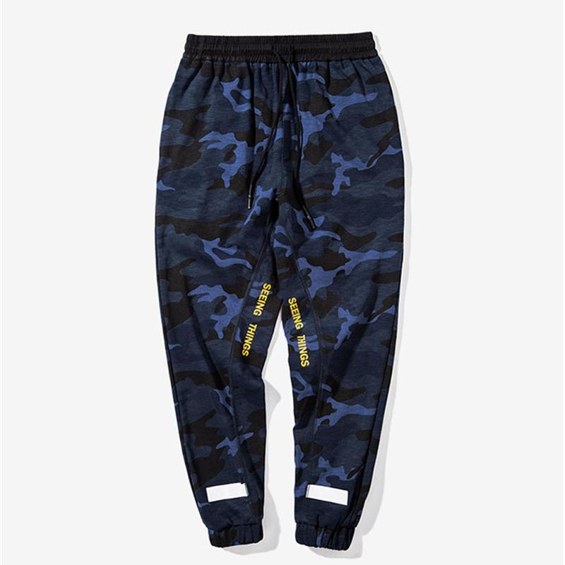 [해외]COULHUNT 남자 카모 좁은 발 바지 힙합 위장 편지 인쇄 된 스웨트 남자 밀리터리 위장 오버올 Drawstring 바지/COULHUNT Men Camo Narrow Feet Pant Hip Hop Camouflage Letter Printed Sweatpa