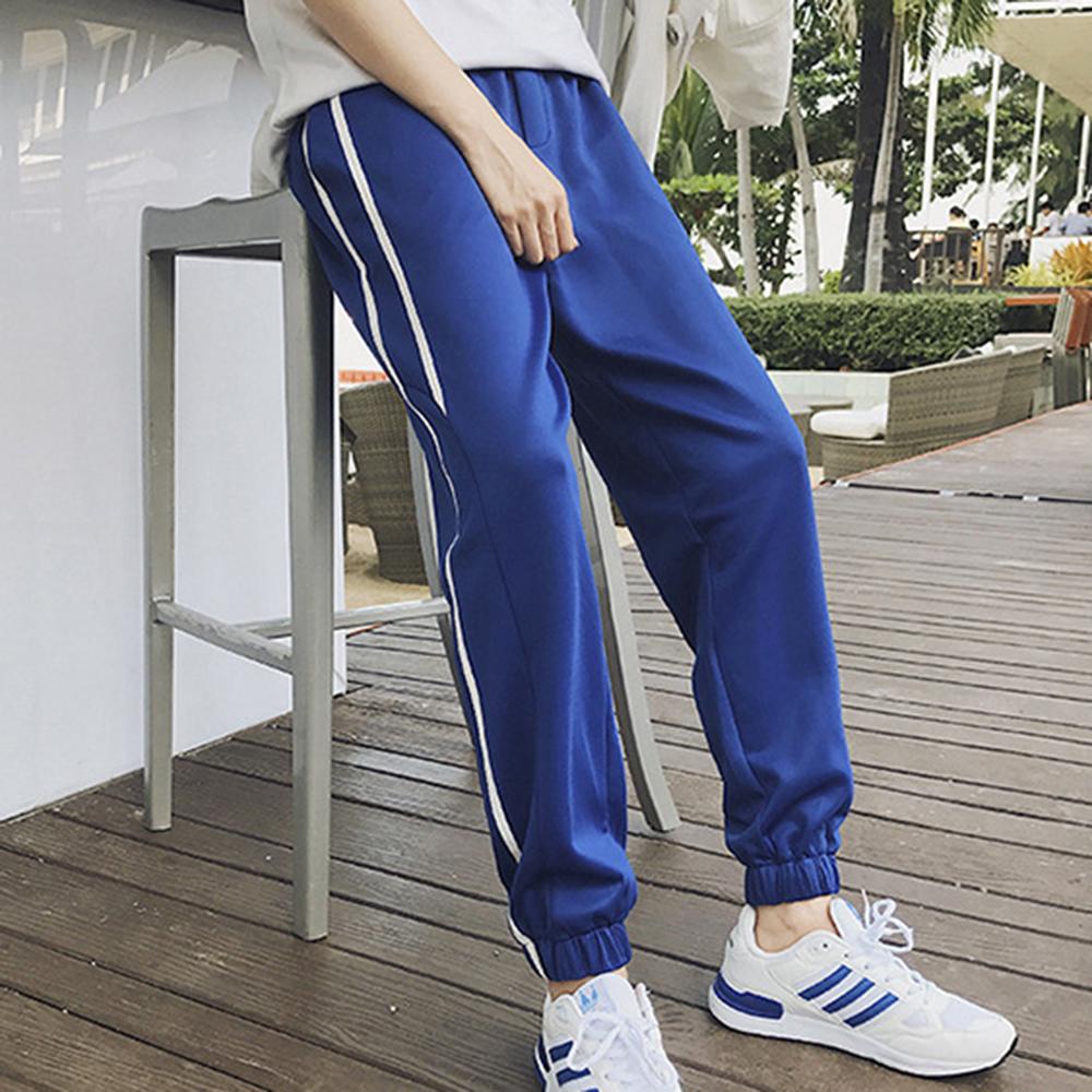 [해외]MASCUBE 2018 뉴 Mens 사이드 스트라이프 트랙 팬츠 남성 복고풍 신축성있는 허리 드로우 스트레치 트레이닝 복 블랙 트랙 트레이츠 S-3XL/MASCUBE 2018 New Mens Side Stripe Track Pants Men Retro Elast