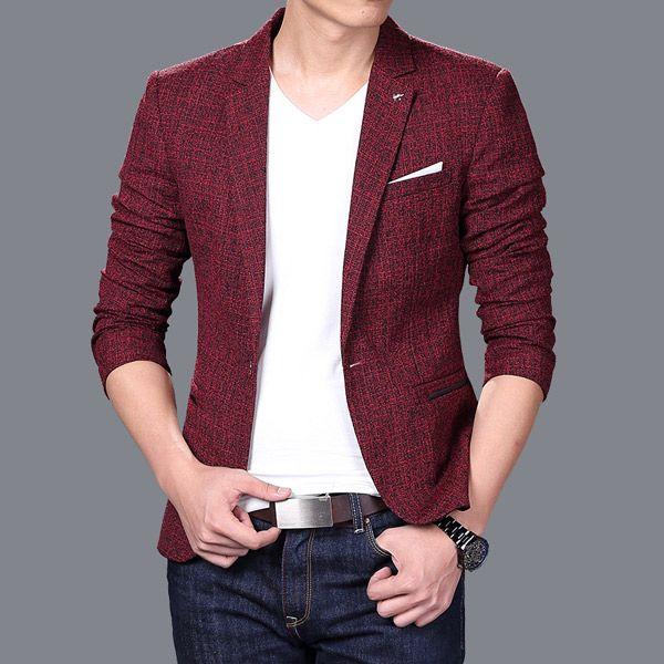 [해외]남성 긴 Retail 정장 재킷 jaqueta masculina 남자 쿨 유행 슬림 피트 블레 이저 한국식 캐주얼 턱시도 블레 이저 masculino 72205/Men Long sleeve Suit jacket jaqueta masculina Men Cool T