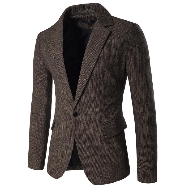 [해외]2017 봄 브랜드 의류 Masculino 블레 이저 패션 슬림 맞는 블레 이저 남성 캐주얼 남성 정장 크기 M-2XL 040201/2017 New Arrival Spring Brand-Clothing Masculino Blazer Fashion Slim Fit