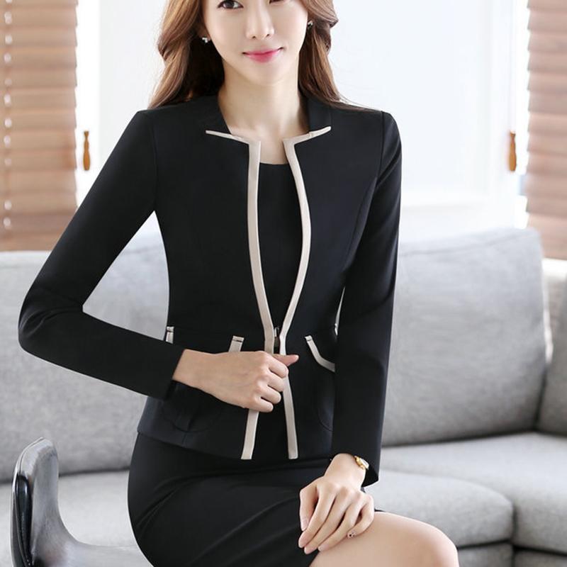 [해외]2017 슬림 봄 가을 여성 V - 목 긴 Retail 블레이저 작업 사무원 레이디 비즈니스 캐쥬얼 우아한 재킷 레드 베이지 아웃웨어 탑스/2017 Slim Spring Autumn Women V-Neck Long Sleeve Blazer Work Office