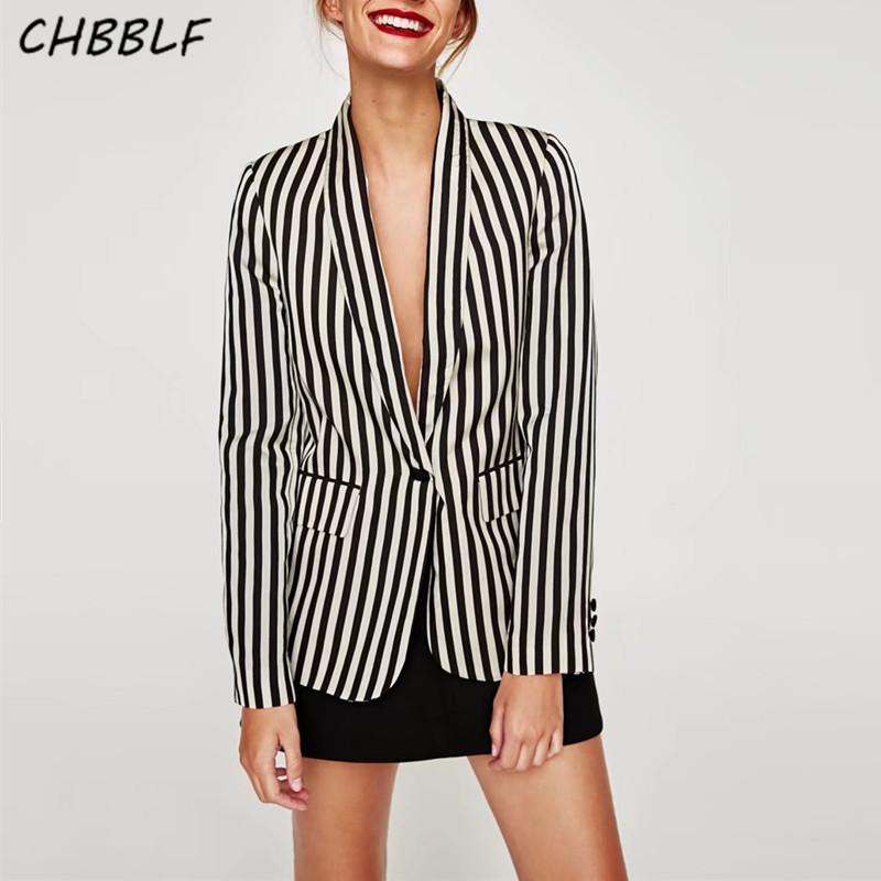 [해외]봄 새로운 유럽의 흑백 스트라이프 정장 코트 레이디 & s 소형 슈트 재킷 BGB7177/Spring new European black and white striped suit coat lady&s small suit blazer BGB7177