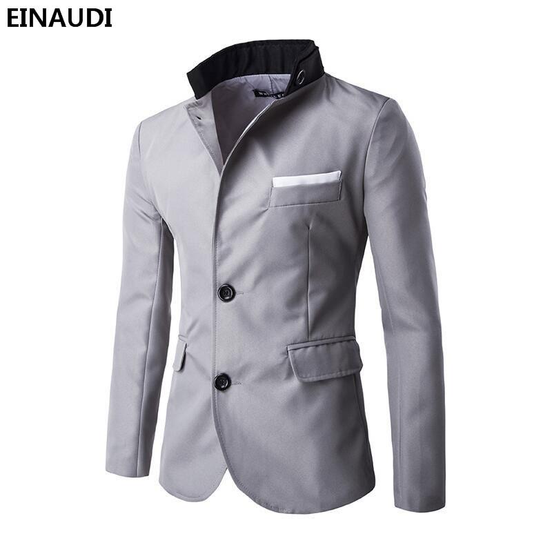 [해외]EINAUDI Men Blazer 2017 의류 목록 패션 탑 브랜드 Mens Suit Terno 캐주얼 슬림 피트 자켓 블레이저 Masculino/EINAUDI  Men Blazer 2017 New Arrival Clothes Listing Fashion To