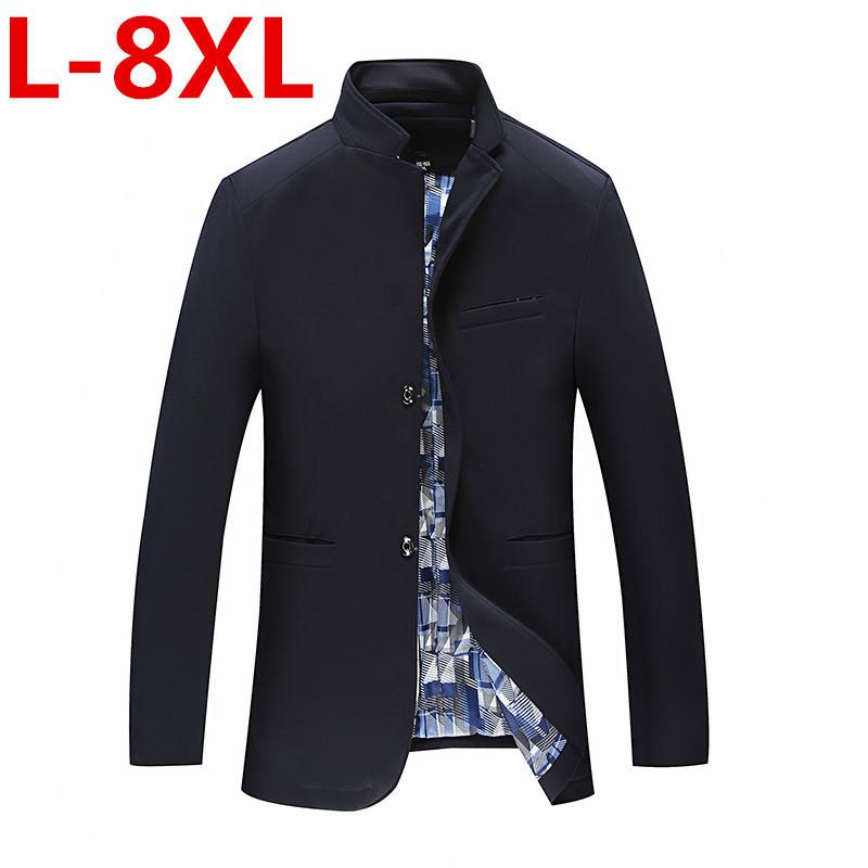 [해외]2017 봄 / 가을 남성 캐주얼 정장 블레 이저 슬림핏 남성복 정장 재킷 캐주얼 비즈니스 플러스 사이즈 6XL 5XL 4XLMen Coat Outerwear/Spring-Autumn 2017 Men&s Casual Suit Blazer Slim Fit Men&
