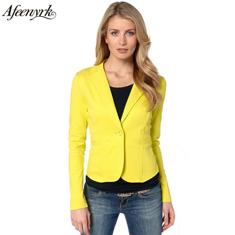 [해외]AFeenyrk 블레이저 여성 정장 2017 패션 플러스 캔디 컬러 자켓 슬림 야드 브랜드 Ladies Blazers Work Wear Jacket Fall Promotion/AFeenyrk Blazer Women suit 2017 fashion plus Can