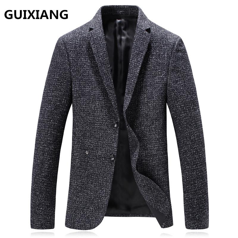 [해외]GUIXIANG 2017 가을 겨울 신사복 정장 모직 블레이저 남성 클래식 캐주얼 재킷 남성 코트 재킷 /GUIXIANG 2017 autumn new style suit men&s business casual blazers men coat jacket class
