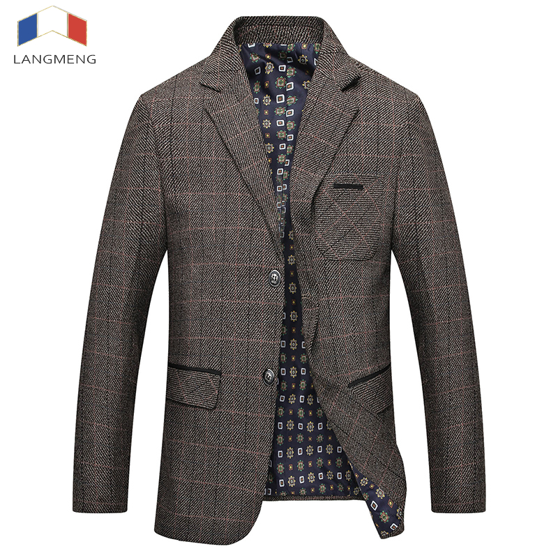 [해외]Langmeng 가을 겨울 캐주얼 블레이 저 Mens 패션 고품질의 비즈니스 자켓 남자 정장 코트 브랜드 의류/Langmeng New Arrival Autumn Winter Casual Blazers Mens Fashion High quality Business