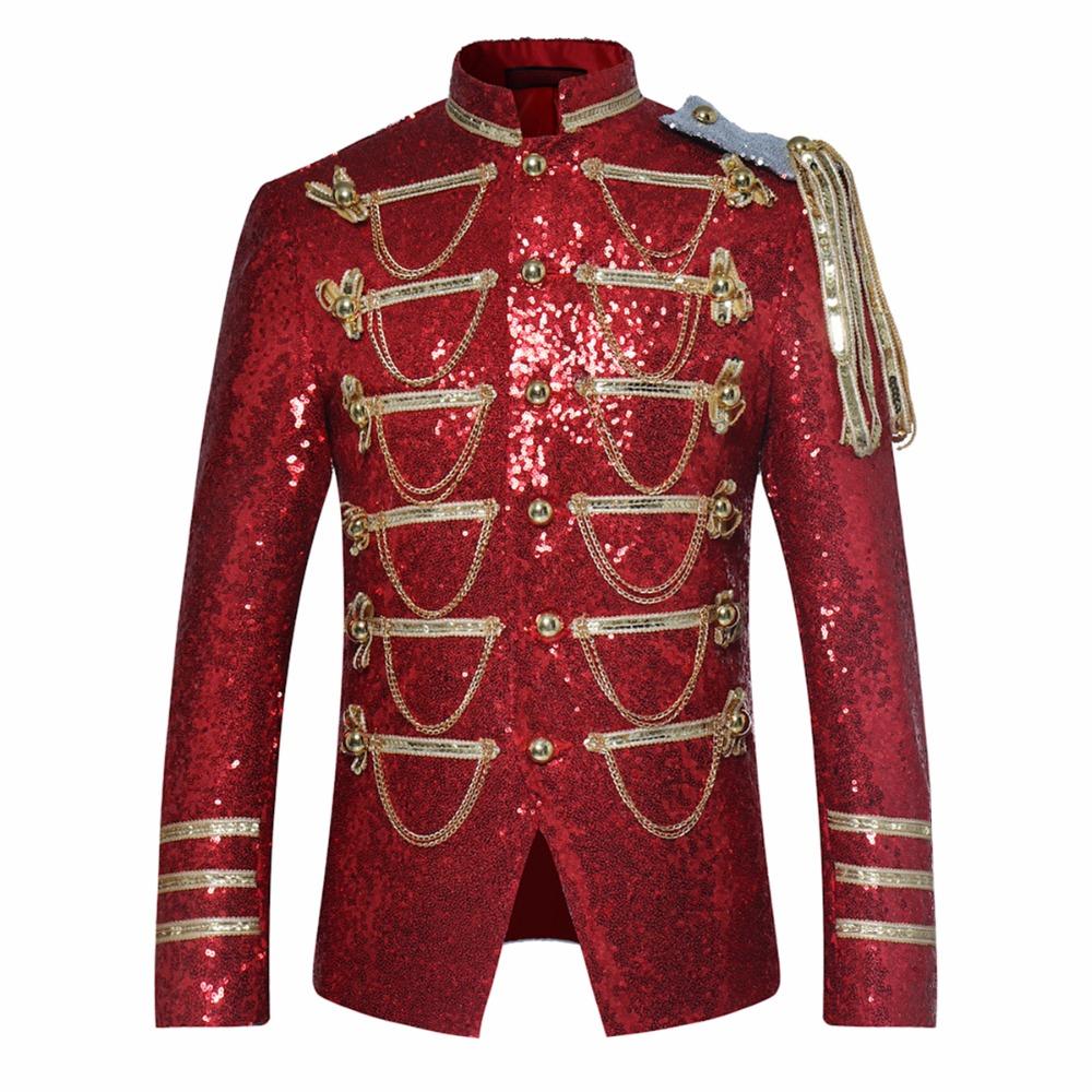 [해외]패션 장식 조각 무대 정장 재킷 남자 파티 복장 입고 패션 디지털 인쇄 가을 겨울 캐주얼 드라마 의상 블레 이저/Fashion sequins stage suit Jacket Men Party Suit Wears Fashion Digital Printing Aut