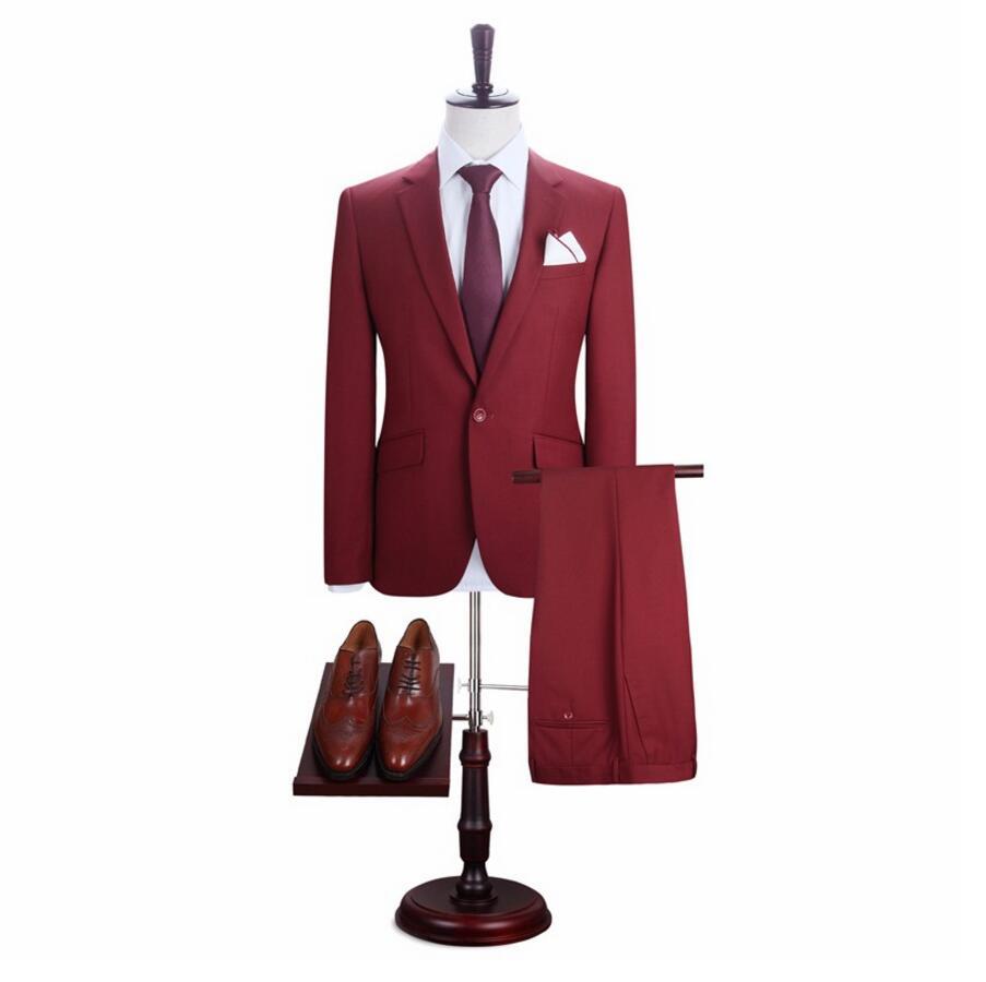 [해외]고품질 남성 & s 정장 행사 신랑 & 최고의 남자 웨딩 드레스는 단순한 고전적인 두 조각 비즈니스 정장입니다/High quality men&s suits formal occasions the groom&s best man wedding dress