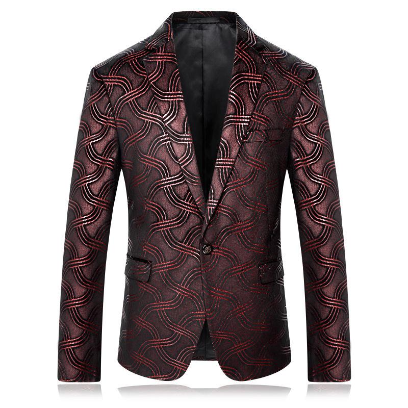 [해외]남성 자아 재배 알콜 껌 남성과 양복 인쇄 레저 루스 코트/Wear Man Self-cultivation Alcohol Gules Printing Man&s Suit Leisure Loose Coat