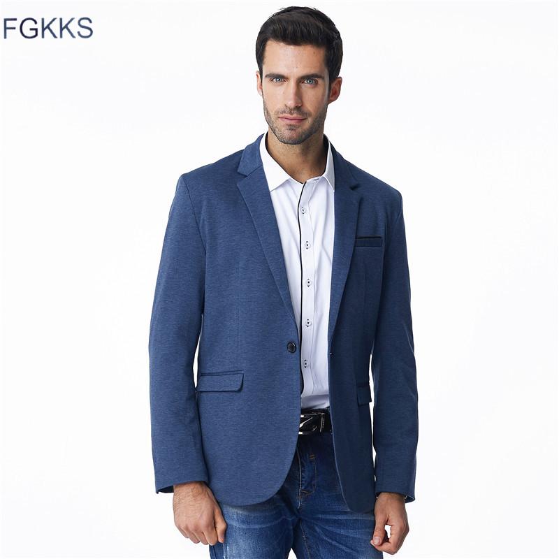 [해외]FGKKS 2017 새로운 가을 캐주얼 블레이 저 남성 패션 얇은 재킷 린 넨과 코 튼 코트 남성 정장 브랜드 의류/FGKKS 2017 New Autumn Casual Blazers Men Fashion Thin Jacket Linen and Cotton Coa