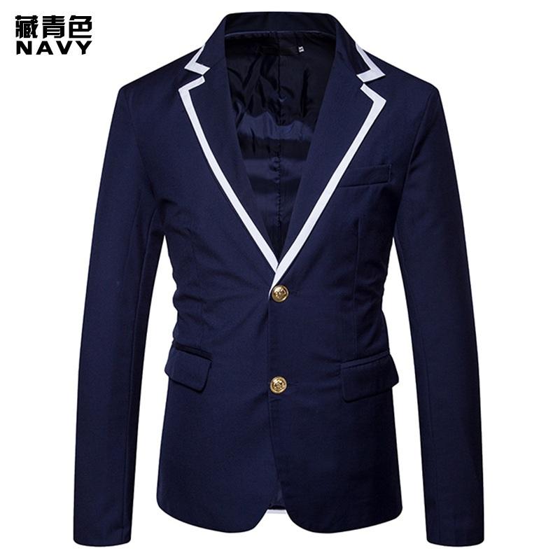 [해외]MIXCUBIC 2018 년 봄 신작 유러 펜 스타일 남성용 캐주얼 정장 유니섹시 색상 남성용 슬림 네이비 슈트 S-XXL/MIXCUBIC 2018 new spring Europen style Unique Mixed colors suit men casual Sl
