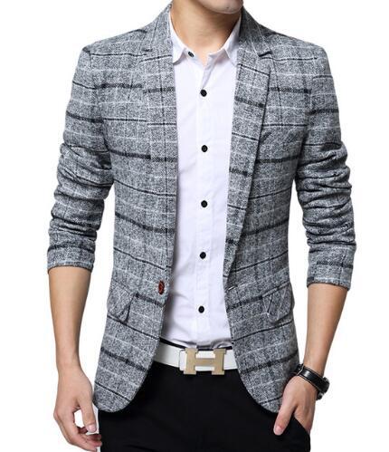 [해외]2018 새로운 도착한 남자 비즈니스 격자 무늬 블레이져 캐주얼 스트라이프 블레이저 남성 격자 공식적인 자켓 인기있는 남성 정장 재킷/2018 New Arrival  Men Business Plaid blazer Casual  Stripes Blazers Men