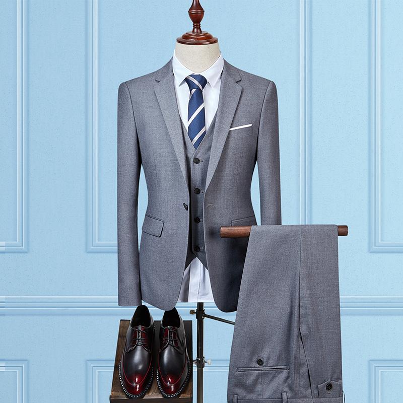 [해외]남자 정장 블레이저 3 조각 큰 사이즈 5XL 패션 비즈니스 웨딩 연회 슬림 우아한 남성 & 정장 재킷 + 바지 + 조끼를 설정합니다/Man Suits Blazers 3 Pieces Sets  Large Size 5XL Fashion Business We